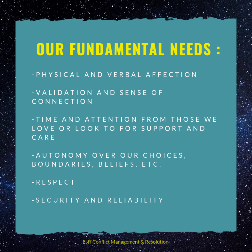 info graphic lists human fundamental needs