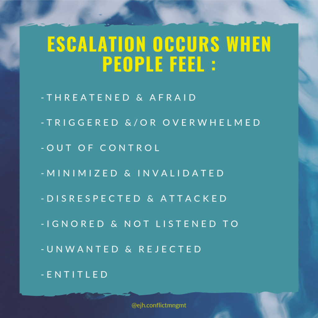 info graphic lists the reasons why escalation occurs